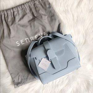 Senreve Mini Maestra Smooth Leather Blue Lagoon